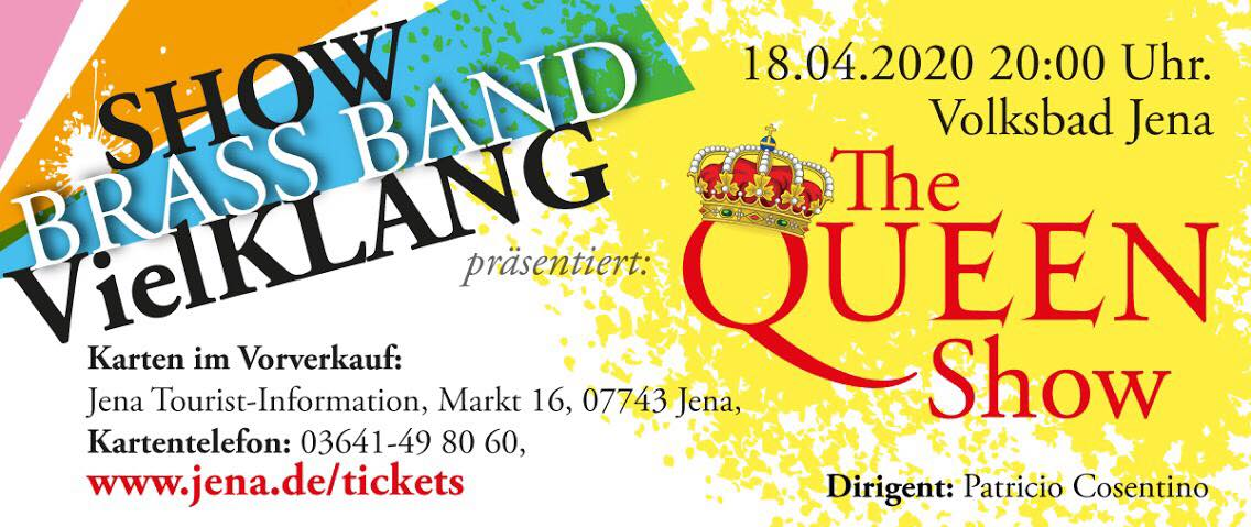 Banner Show Brass Band VielKLANG - The Queen Show